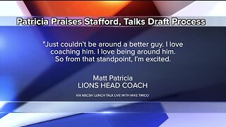 Matt Patricia praises Matthew Stafford, talks Draft process with Mike Tirico