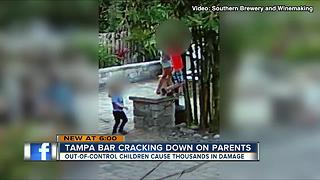 Local brewery posts rules about kids' behavior after property destroyed - Video