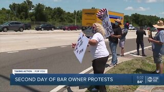 Tampa and Clearwater bar owners protest to reopen their businesses