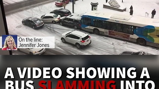 Icy Road Nightmare In Montreal - Video