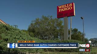 Wells Fargo Bank Glitch Charges Customers Twice - Video