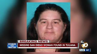 Missing San Diego Woman found in Tijuana