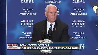 Vice President Pence stops in Detroit. - Video