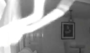 Home Security Camera Gives Super Creepy Close-Up of Spider - Video