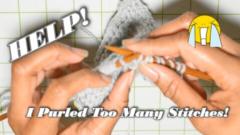 How to Correct Purl Stitches