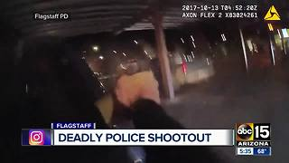 Flagstaff police release bodycam footage from deadly officer-involved shooting - Video