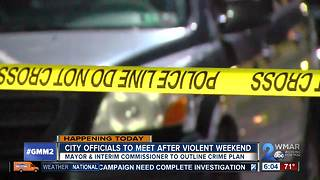 Baltimore officials set to meet after another deadly weekend in the city