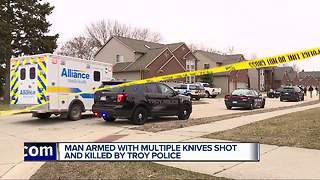 Troy police shoot, kill 23-year-old man armed with knives - Video