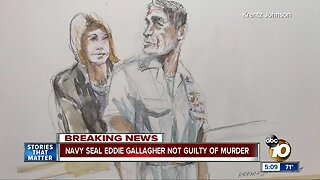 Jury: Navy SEAL Gallagher not guilty of premeditated murder