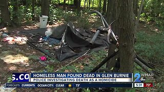 Homeless man found dead in Glen Burnie woods