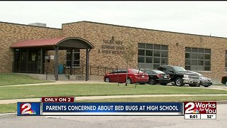 Parents concerned about bed bugs at area school