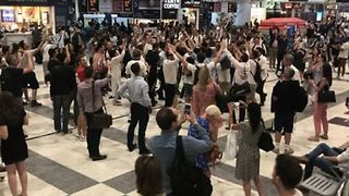 England Fans Sing Chant Dedicated to Team Manager in Liverpool Street Station