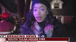 South Tulsa house fire 81st and Sheridan - Video