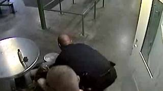 RAW: Inmate gets thrown, hits head in table at the Downtown Detention Center - Video