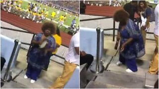 This woman becomes the star attraction at football game