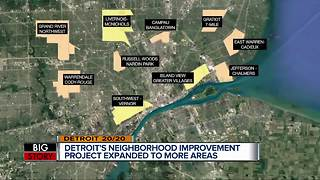 Detroit's neighborhood improvement project expanded to more areas