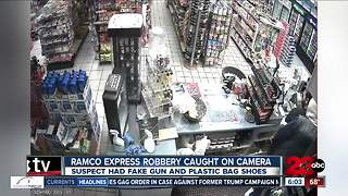 Bakersfield gas station robbery caught on camera - Video