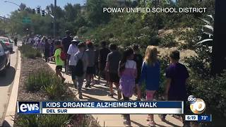 Students go on walk to benefit Alzheimer's research - Video