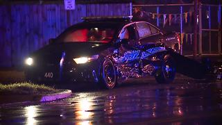 2 Cleveland police officers taken to hospital after cruiser gets hit during crash - Video