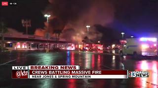 Crews battle massive fire near Spring Mountain and Jones