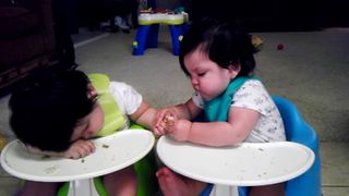 """""""Cute Baby Steals Food From SIbling"""""""