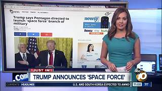 Trump announces 'space force' - Video