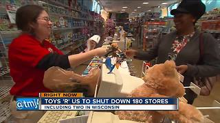 "Toys ""R"" Us plans to close 2 Wisconsin stores"