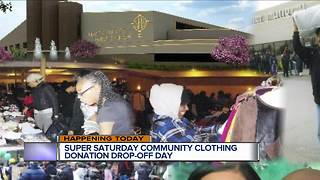 Super Saturday Clothing Donation Drop-off - Video