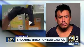 Man arrested near NAU campus after threatening to shoot people - Video