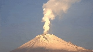 Popocatepetl Volcano Erupts 9 Times in 24 Hours - Video