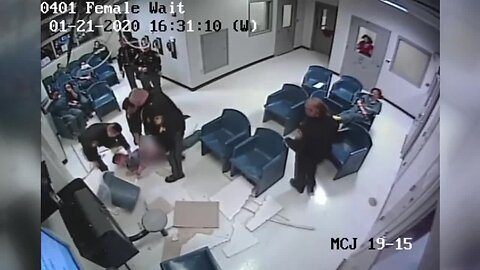 Security video captures jail inmate's fall through ceiling