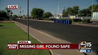 8-year-old Mesa girl located after overnight search - Video