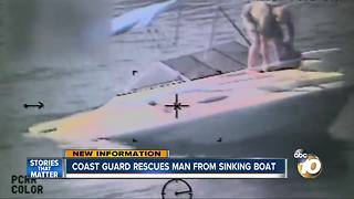 Coast Guard rescues man from sinking boat - Video