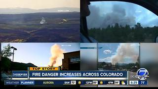 Firefighters battling several new wildfires across Colorado - Video