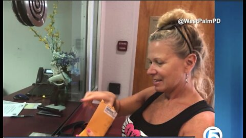 Woman reunited with lost cellphone