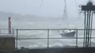Boats Buffeted by Waves as Ophelia Hits Cobh in County Cork - Video