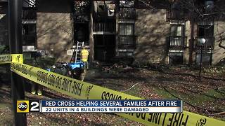 Red Cross helping number of families after fire races through apartment complex - Video