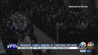 President Trump, family attend Christmas Eve services in Palm Beach - Video