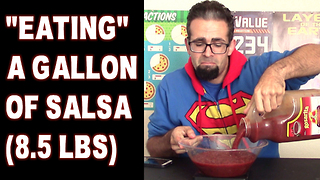 Gallon of Salsa Challenge (8.5 lbs) vs FreakEating - Video