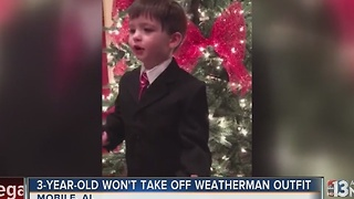 Little boy just wants to be a weatherman - Video