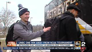 UMBC one win away from NCAA Tournament - Video