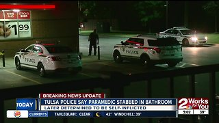 EMSA paramedic in stable condition after stabbing himself