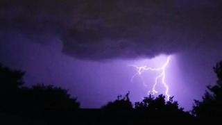 Thunderstorm Moves Across Texas Panhandle, Brings Lightning to Lubbock - Video