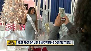 Local Miss Florida USA contestant embracing her unique characteristics - Video