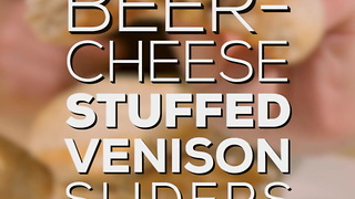 Beer-Cheese Stuffed Venison Sliders Recipe