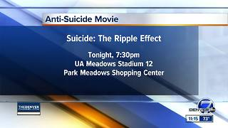 Anti-suicide movie being show Thursday night - Video