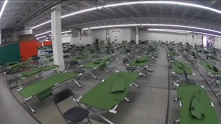 First look inside emergency shelter at National Western Complex