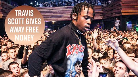 Travis Scott gives away $100,000 to fans