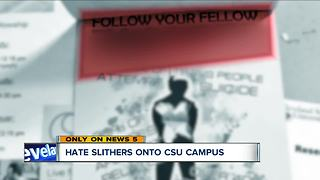 Flier targeting LGBT community posted around Cleveland State University's campus - Video