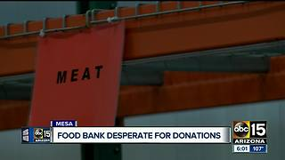 Food bank desperate for donations after compressor breaks - Video